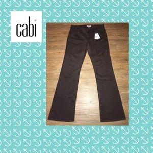 Cabi metallic brown boot cut jeans.